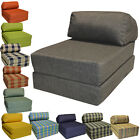 JAZZ CHAIR Single Bed Z Guest Fold Out Futon Sofa Chairbed Lounger Foam Gilda