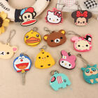 Cute Cartoon Animal Key Cap Cover Keyrings Keychains Women Bag Accessories Gifts
