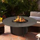 American Fire Products Carmel Chat Height Round Metal Top Gas Fire Pit