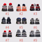 NFL Rugby England Football Patriots Fan Winter Kintted Lint Pom Beanie Cap Hat