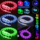 LED Light Up Charging Charger Cable Cord iPhone / Android Micro & Type C Phones