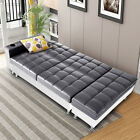 New Faux Leather Ottoman Sofa Bed Settee With Storage & Cup Holder Recliner Home