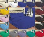 Thread Linen Luxury Plain Dyed Poly Cotton Fitted Valance Bed Sheet