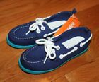 NWT Gymboree Boys Beach Buddies Two Tone Blue Boat Shoes Size 1 & 2