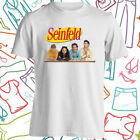 Seinfeld 90s Comedy TV Show Men's White T-Shirt Size S to 3XL image