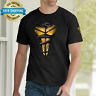 Men New Cotton T-Shirt Kobe Black Mamba Logo Cool Round Neck Short Sleeve Tee image