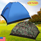 Camping Waterproof Outdoor 3-4Person 4Season Folding Tent Hiking Camo/Blue LOT E