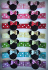 Girl Toddler Baby Minnie Mouse Hair Clips Bows Bowtique Holiday Dots