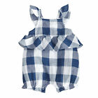 Mud Pie Baby Girls Gingham Bubble Romper 3M-18M #1132386