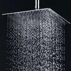 Shower Head 10-Inch LED Stainless Steel Square Rainfall Top Sprayer Head US