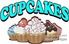 Cupcakes DECAL (CHOOSE YOUR SIZE) Cake Food Truck Vinyl Sign Concession