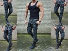 Camouflage Young Fashion Herren Hose Skinny Fit Cargo Army Military Armee Jeans