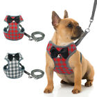 Soft Mesh Grid Dog Harness and Leads set Cute Bowknot for Small Medium Dog Puppy