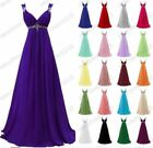 Long Chiffon Evening Formal Evening Party Prom Bridesmaid Dresses Size 6-26