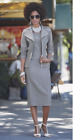 Riva Skirt Suit Set Ashro Set 3 Pc Studded Denim Gray 8 10 12 14 16W 18W 20W 22W