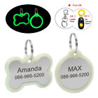Personalized Dog ID Tags for Pet with Glow in Dark Silencer Protect Tag Engraved
