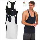 AWDis Cool Muscle Vest Gym Fit Thin Shoulder Straps Straight Front Polyester TOP