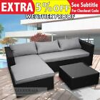 New Outdoor Sofa With Coffee Table Wicker Rattan Corner Set Lounge Right Chaise
