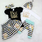 Matching Clothes Big Sister T-shirt Little Sister Romper+Long Pants Outfits AU