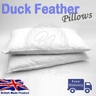 Duck Feather And Down Pillows Comfortable Extra Filling Deep Sleep Cotton Cover