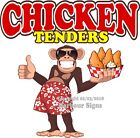 Chicken Tenders DECAL (Choose Your Size) Monkey Concession Food Truck Sticker
