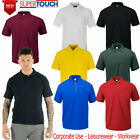 MENS POLO SHIRT CASUAL PLAIN T-SHIRTS ACTIVE SPORTS CLASSIC COLLARED TEE TOPS