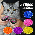 Soft Nail Caps for Cat Claws size Medium 20 pcs  Adhesive