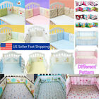 baby cots adelaide - 4/6Pcs Baby Infant Cotton Crib Bumper Nursery Bedding Cot Pillow Pad Protector