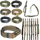 Dog Tactical COLLAR Molle Handle Training LEASH Military K9 HOOK & LOOP sz M-XXL