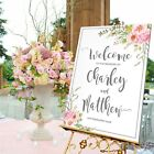Personalised Wedding Sign / SUMMER ROSE-3 SIZE/ 3 MATERIAL OPT.