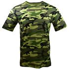 Men's T-Shirt -ARMY Camouflage -CAMO- Training- Boot Camp-100% Cotton-NEW
