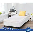 Twin/Full/Queen/King 8'' Black High Profile Smart Box Spring Metal Bed Frame