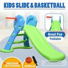 New Toddler Kids Indoor Outdoor Play Activity Game Slide & Basketball Ring Toss