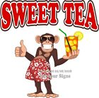 Sweet Tea DECAL (Choose Your Size) Monkey Concession Food Sticker