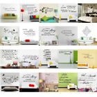 Removable Quote Mural Words Art Vinyl Wall Sticker Home Kids Room Decal Decor