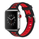 PASBUY B71 Silicone Replacement Strap Watch Band for Apple Watch Series 3 2 1