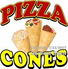 Pizza Cones DECAL (Choose Your Size) Food Truck Concession Vinyl Sign Sticker
