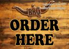(Choose Your Size) Order Here BBQ VINYL DECAL Food Truck Concession Restaurant