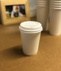 Party Paper CUPS DOUBLE WALL BROWN 8oz SIP LIDS Hot Drinks Coffee Tea Drinks