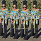 Towani African Kente Ankara Wrap Top With Exaggerated Puff Sleeve S M-3XL