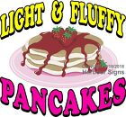Light Fluffy Strawberry Pancakes DECAL (CHOOSE YOUR SIZE) Food Truck Concession
