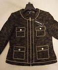 KARL LAGERFELD Chain-Trim Tweed-Look Jacket Brand New Collection