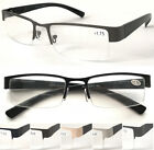 L417B-A Semi Rimless Bifocal Reading Glasses/Spring Hinge & Classic Style Design