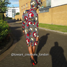 Towani Ladies Ankara African Print Fabric Shirt/Skirt Suit Size 10-14UK Ready