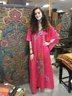 BOHEMIAN MOROCCAN CAFTAN KASHMIRI HAND EMBROIDERED MAXI COVER UP DRESS ONE SIZE