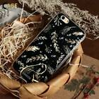 Embossed Golden Leaves Art Print Silicone Phone Case Cover For iPhone Samsung
