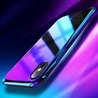 Ultra Slim Blue Ray Gradient Glitter Back Phone Case Cover For iPhone X 8 7 6 5