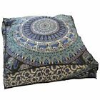 Square Cushion Cover Tapestry Mandala Print Meditation Indian Floor Pillow Case