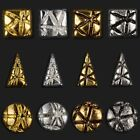 15PCS  vintage gold silver metal 3D nail art decorations studs rhinestones retro