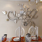 3D Mirror Flower Art Acrylic Mural Decal Removable Wall Sticker Home Room Decor
